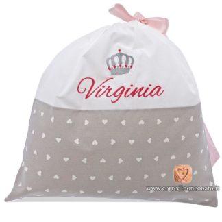 Sacco nascita Virginia grigio