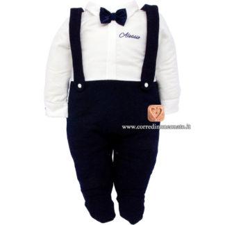 Tutina bretelle neonato Alessio