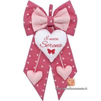 Fiocco nascita Serena rosa