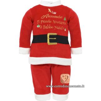 Completino Babbo Natale neonato Alessandro