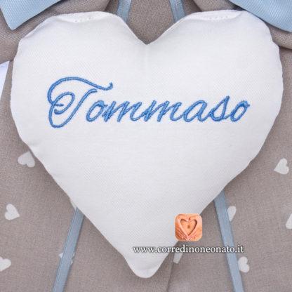 cuore ricamato Tommaso