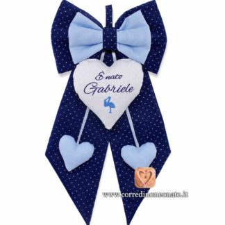 Fiocco nascita Gabriele blu