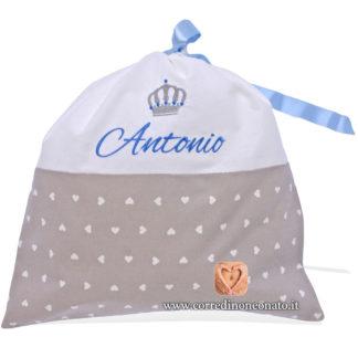 Sacco nascita Antonio grigio
