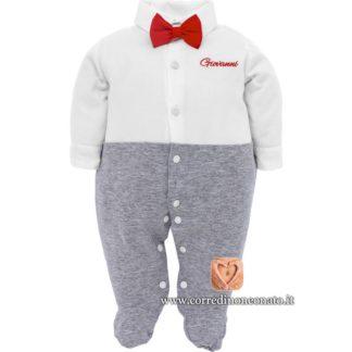 tutina neonato Giovanni con papillon