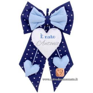 Fiocco nascita Antonio blu