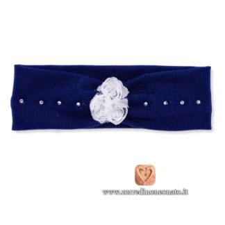 Fascia per capelli neonata blu