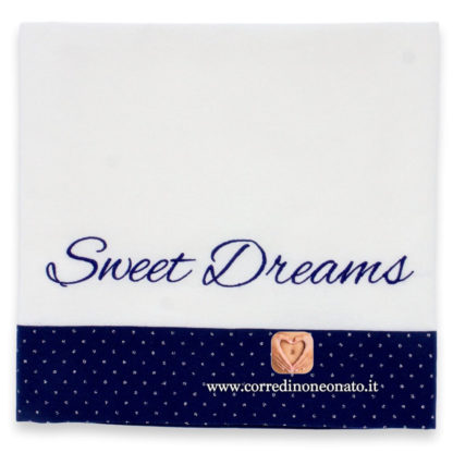 Lenzuolo neonato frase Sweet Dreams