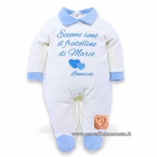Tutina neonato Leonardo frase di presentazione