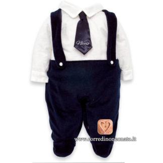 Tutina neonato Nicolò cravatta