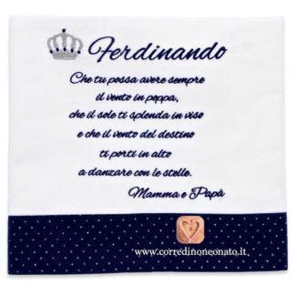 Lenzuolo neonato Ferdinando