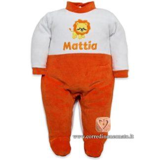 Tutina neonato Mattia ricamo leone