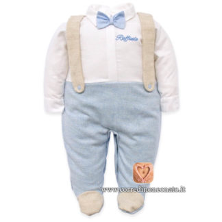 Tutina neonato Raffaele bretelle