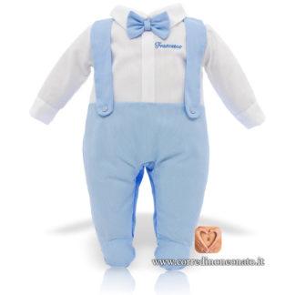 Tutina neonato Francesco papillon