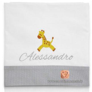 Lenzuolo neonato Alessandro giraffa