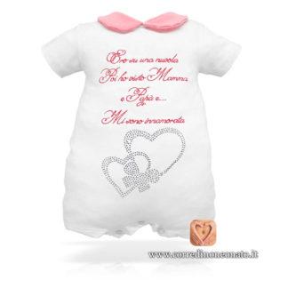 Pagliaccetto estivo neonata rosa