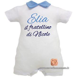 Pagliaccetto estivo neonato Elia