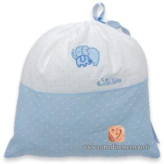 Sacco nascita bimbo azzurro elefanti