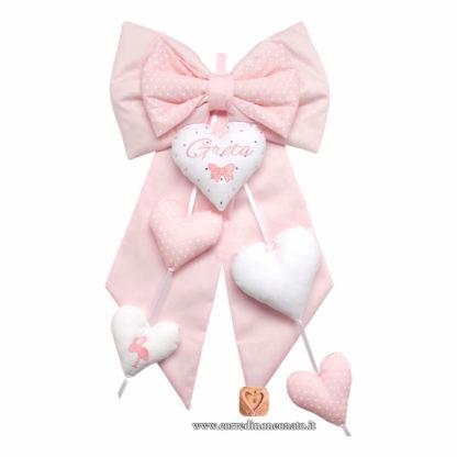 fiocco nascita rosa grande