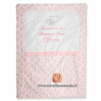 copertina neonata pizzo rose