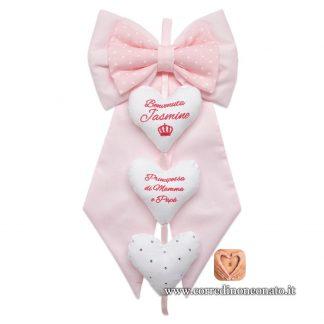 fiocco nascita rosa Jasmine
