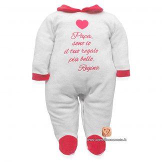 tutina neonata con frase papà